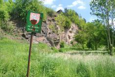 Lom uRadimi - přírodní památka vyhlášená vroce 1977