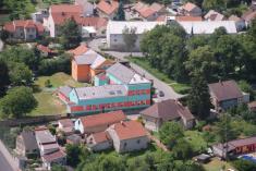 Letecký snímek ZŠMŠ Radim